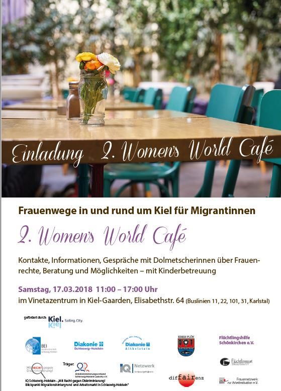 Einladung zum 2. Women's World Café am 17.03.2018 in Kiel
