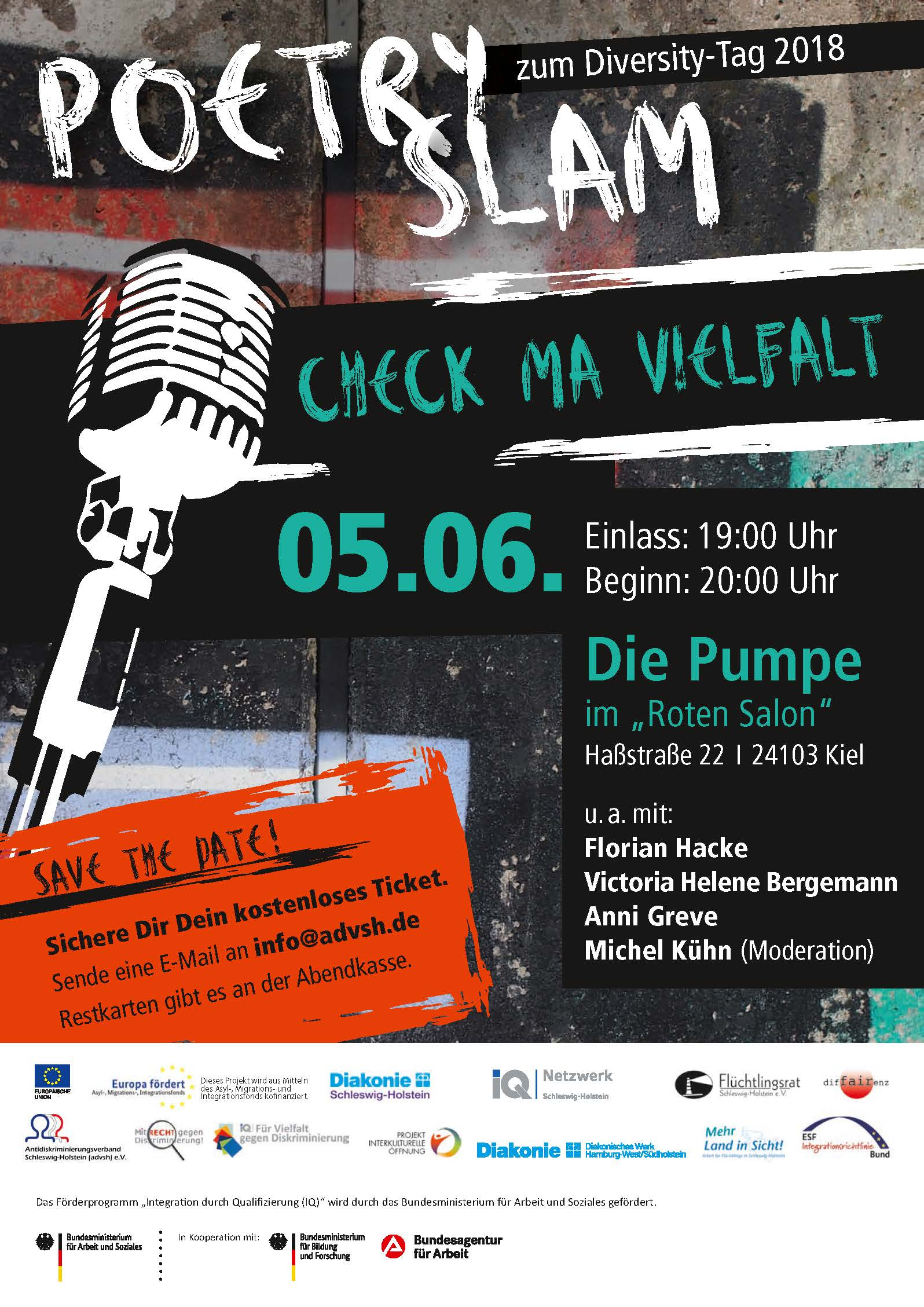 Einladung zum Poetry Slam am Diversity-Tag, dem 05.06.2018