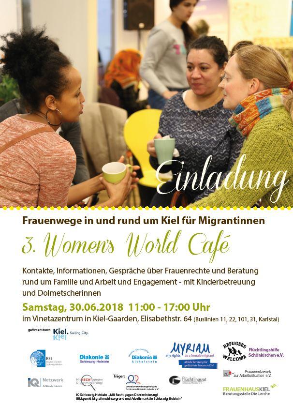 Einladung zum 3. Women's World Café am 30.06.2018