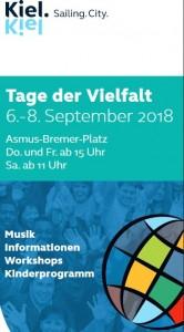 Tage der Vielfalt vom 06. bis 08.09.2018 in Kiel