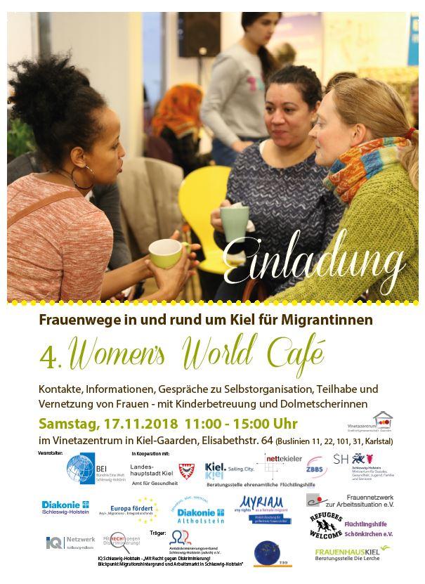 Einladung zum 4. Women's World Café am 17.11.2018